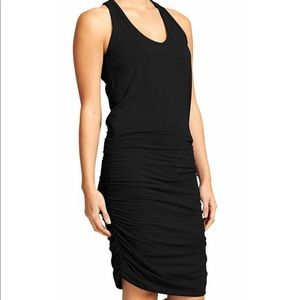 Black Athleta razor back dress